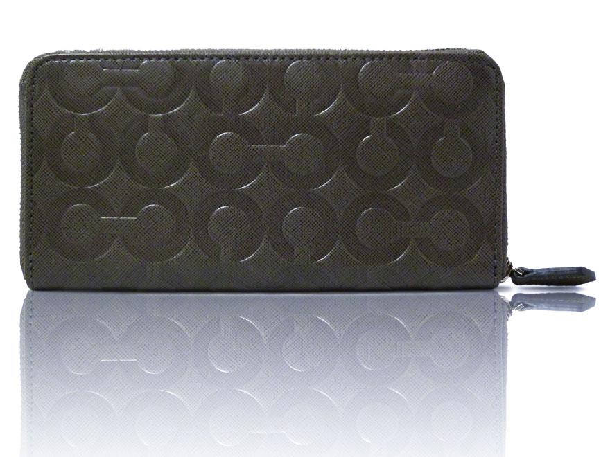 uk availability 578e1 27481 男性にも人気!コーチの黒い財布はシンプルで使いやすい!
